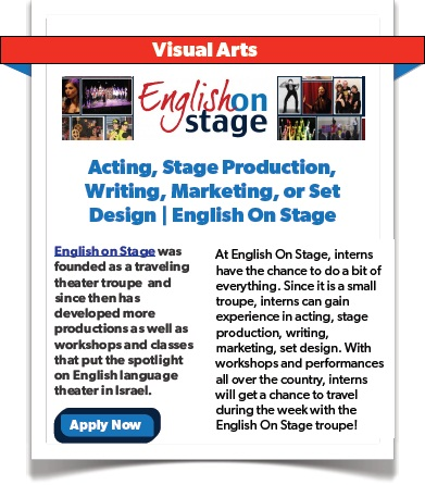 Acting, Stage Production, Writing, Marketing, or Set Design - English on Stage